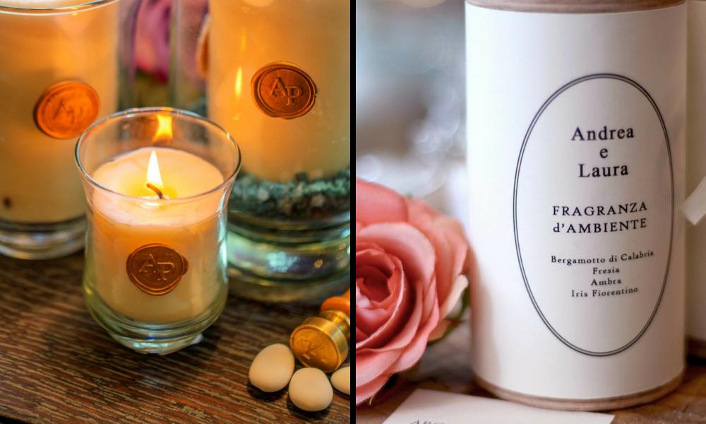 candele profumate per matrimonio