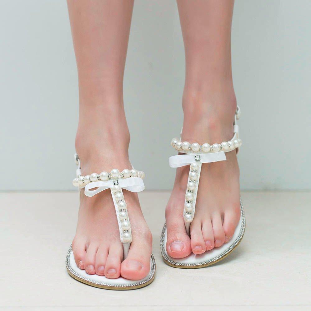 infradito da sposa con perle