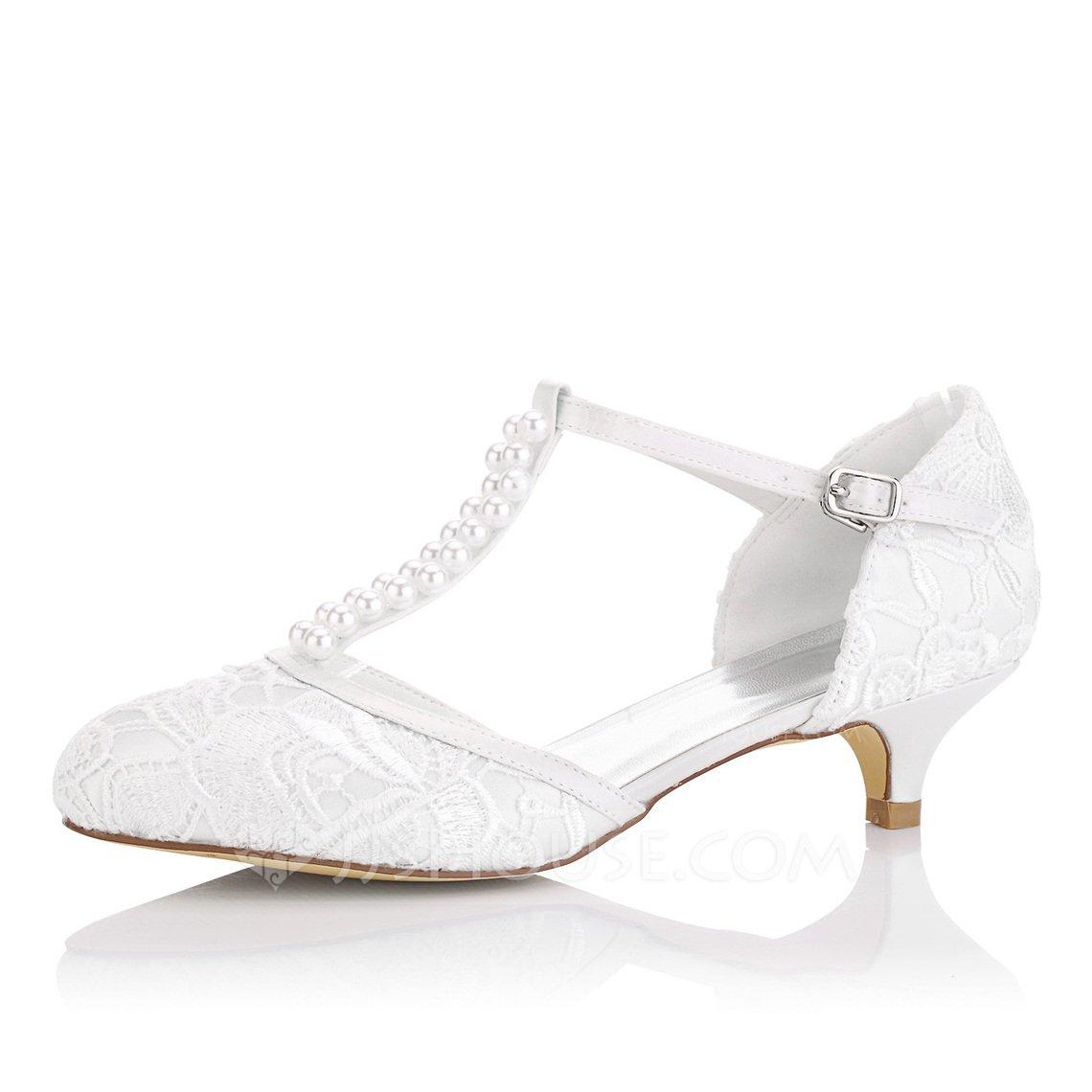 scarpa da sposa con tacco basso