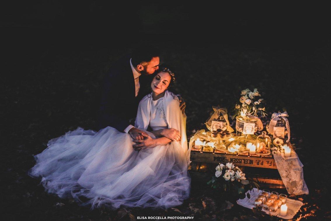 candele matrimonio in inverno