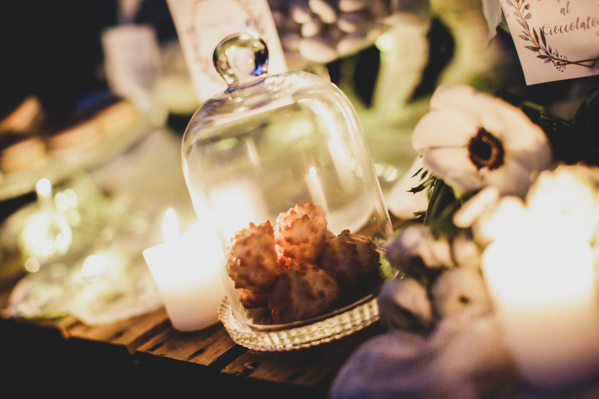 tavolo e candele matrimonio invernale