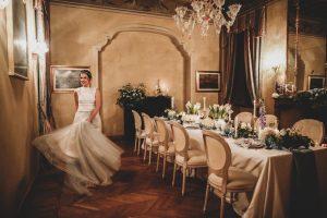 sposa in vestito di tulle silvia Valli