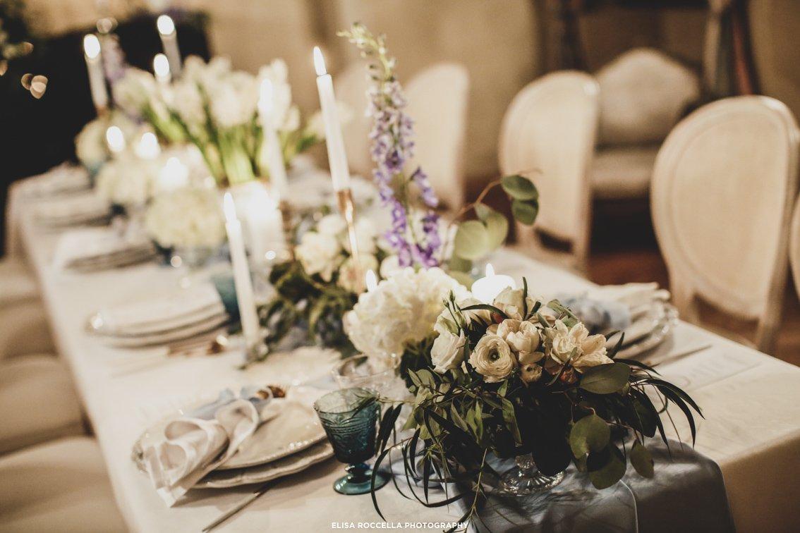 allestimento tavolo matrimonio invernale