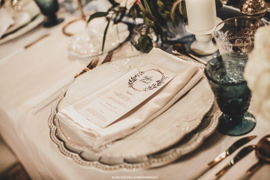 mise en place matrimonio invernale