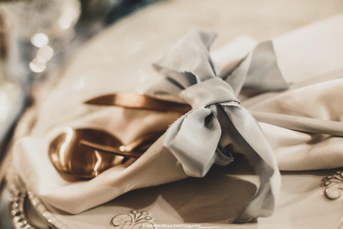 matrimonio in inverno dettaglio tavola