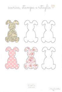 da stampare sagome conigli