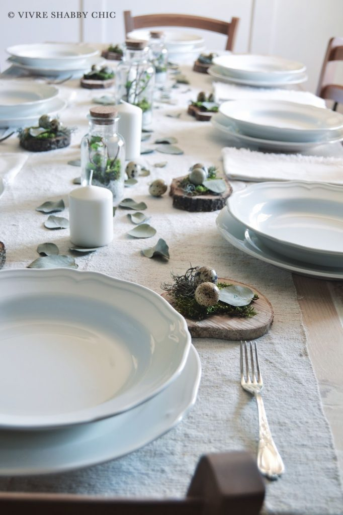 decorazione tavola pasqua stile minimal